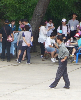 The only picture I was able to steal of North Koreans. Can you spot the three in this photo?