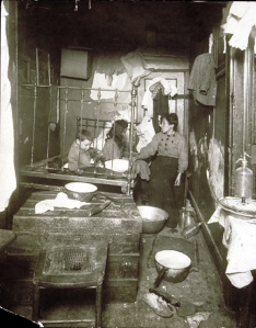 NYC tenement in the early 1900s
