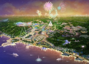 Vision of the future Shanghai Disneyland.