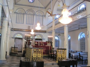 Inside the Musmeah Yeshua Synagogue, Yangon