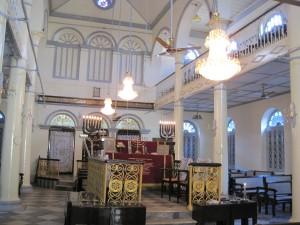 Inside the Musmeah Yeshua Synagogue, Yangon