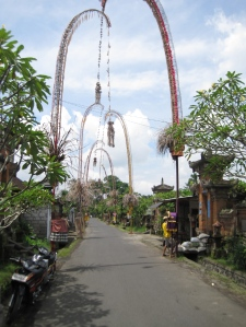 A quiet street in central Bali, just outside of Ubud