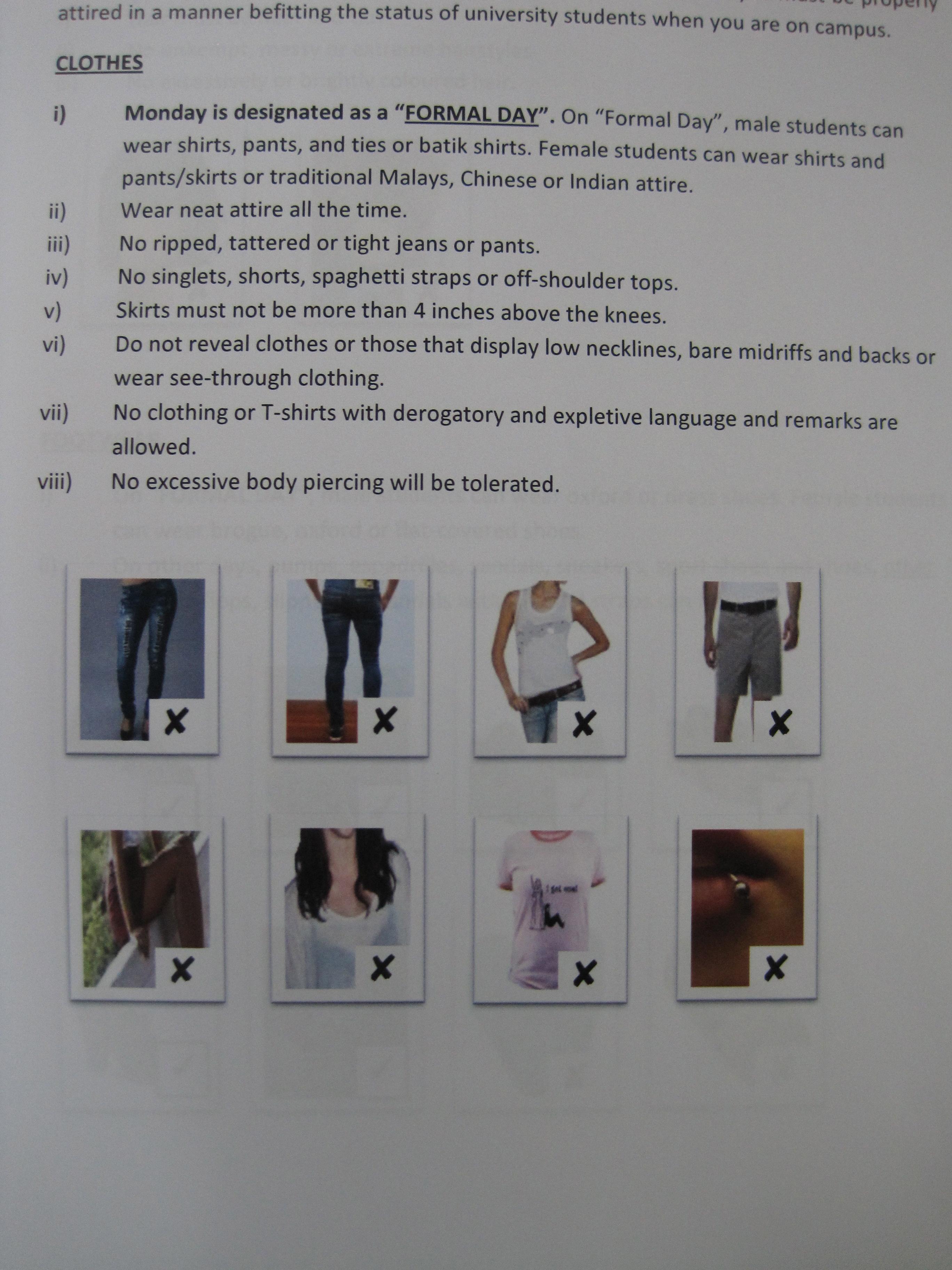 Malaysia Dress Code