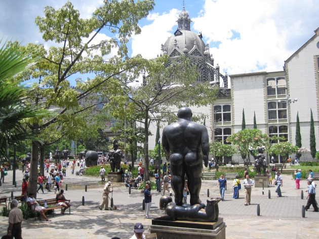 La Plaza Botero and the gorditas (little fatties), central Medellin