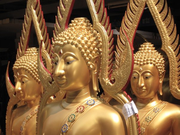 Buddhas in Bangkok's temple district