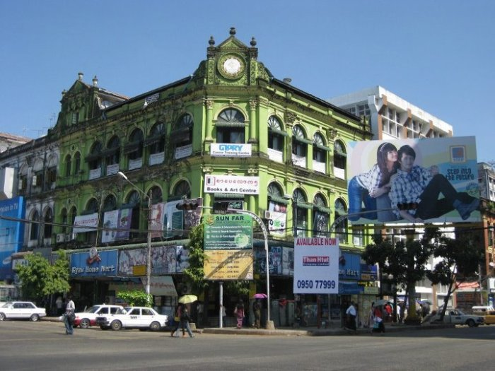 Colonial British architecture in downtown Yangon