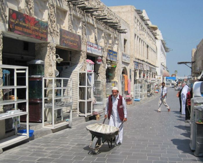 "Street scene on Souq Waqif, Doha's ""old town"""