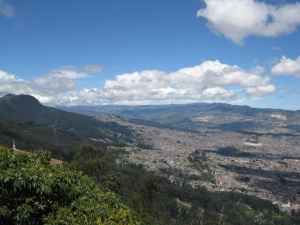 View from Monserrate, Bogota