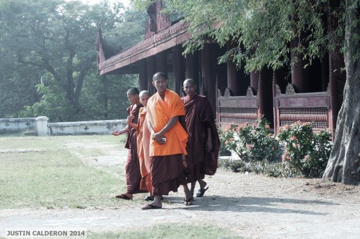 Monks at Mandalay Palace