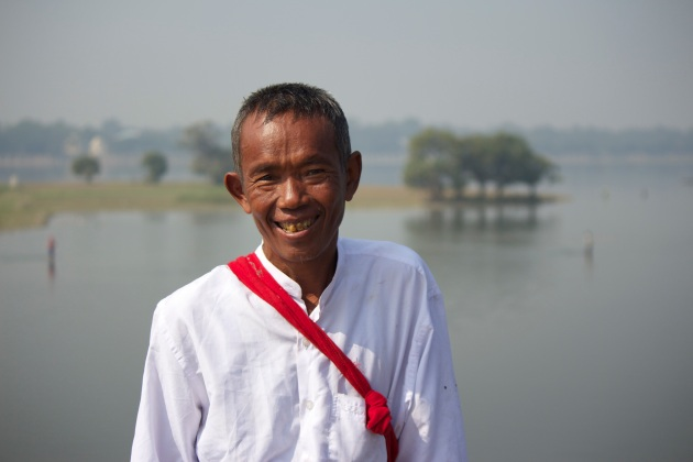 Farmer at U Bein Bridge, Mandalay