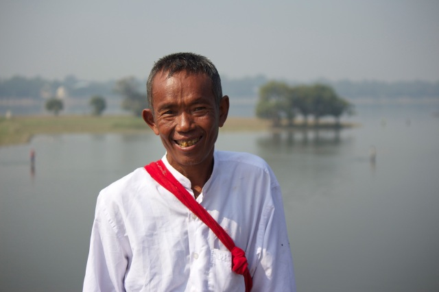 Farmer at U Bein Bridge, Mandalay
