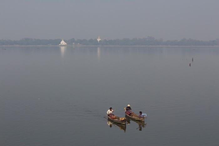 View from U Bein Bridge, Mandalay