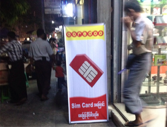 Ooredoo SIM cards will soon be available for 1,500 kyat ($1.60), a fraction of the current black market rate ($160-$220).