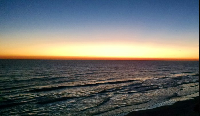 A final sunrise over the Atlantic after one week in Florida.