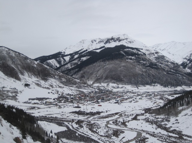 Silverton was cloaked in a fresh snow when we drove over the Million Dollar Highway, a hazardous vertiginous path through some of the steepest gorges in Colorado.