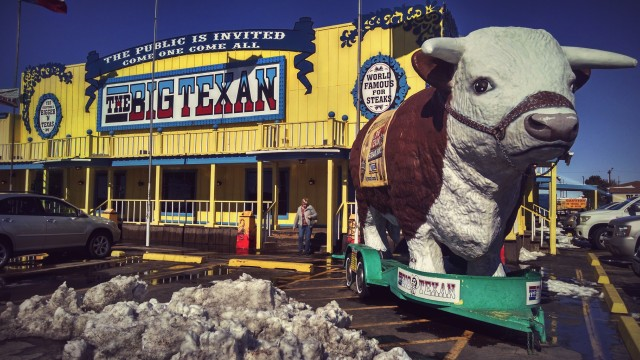 The Big Texan -- home to one of the best steaks I've ever eaten.