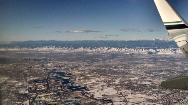 A final shot of Denver from the plane