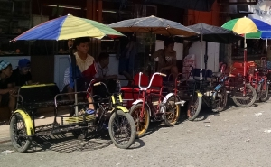 Trikes waiting for fares in Davao
